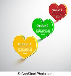 Heart option. Vector illustration