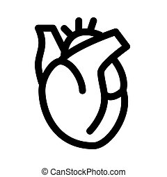 Heart organ line icon. Heart symbol or sign.