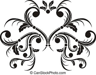 heart ornament - caligraphic ornaments