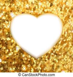 heart., oro, cornice, eps, forma, 8