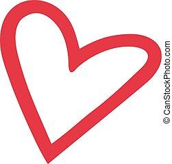 Heart outline cute