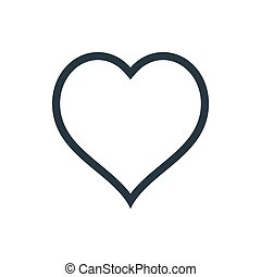 heart outline - outline heart icon