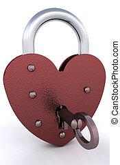 Heart padlock - Heart shaped padlock