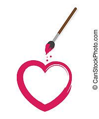 Heart Paintbrush