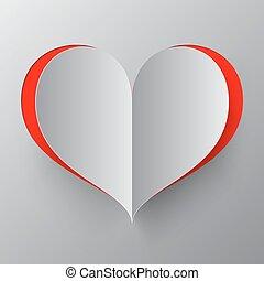 Heart Paper Cut Vector Illustration
