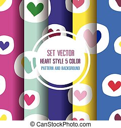 Heart Pattern and Background Vector illustration