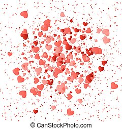 Heart pattern background - Marriage chaotic background with...