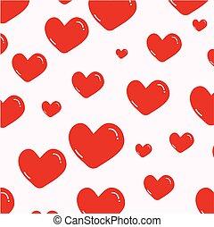 Heart pattern on pink