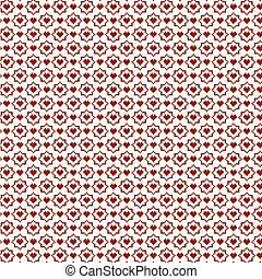 Heart patterns, valentine set