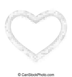 Heart picture frame isolated on white. EPS 10