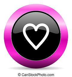 heart pink glossy icon - web glossy pushbutton