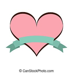 heart pink love icon