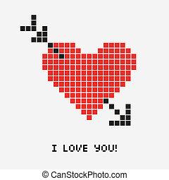 Heart pixel