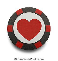 Heart Poker Chip