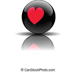 Heart Pool ball