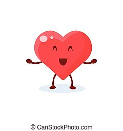 Heart Primitive Style Cartoon Character