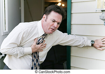 Heart Problem or Illness - Businessman has sudden symptoms...