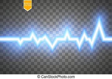 Heart pulse graphic isolated on transparent background....