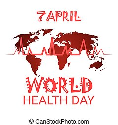 Heart Pulse Health World Day Global Holiday Banner With Copy Space
