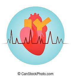 Heart Pulse Health World Day Global Holiday