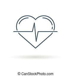 Heart pulse icon white background