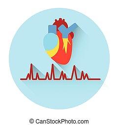 Heart Pulse Medicine Icon