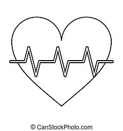 heart pulse rhythm cardio thin line