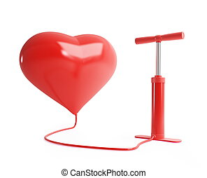 heart pump on a white background