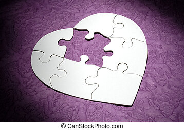 Heart Puzzle - Photo of a Heart Shaped Puzzle Missing a...
