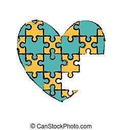 heart puzzle pieces image