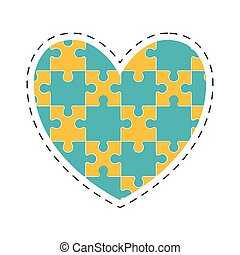 heart puzzle solution image
