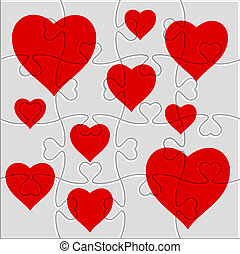 heart puzzle with a picture of the heart