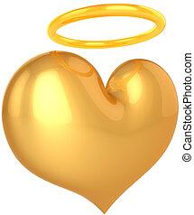 heart., résumé, amour, ange, saint
