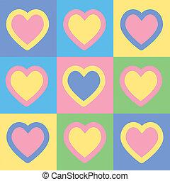 Heart raster icon illustration