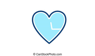 Heart rate icon line icon. Cardio diagnostic pictogram. Animation with alpha channel.