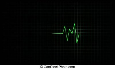 Heart rate monitor - Fast heartbeat on a medical monitor,...