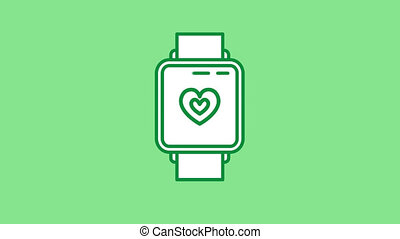 Heart Rate Monitor line icon is one of the Sport Lifestyle icon set. File contains alpha channel. From 2 to 6 seconds - loop.
