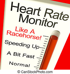 Heart Rate Monitor Very Fast Showing Quick Beats - Heart...