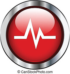 Heart rate sign on button