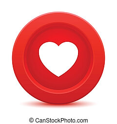 heart red button
