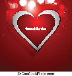 Heart red colorful Valentines day card vector