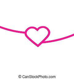 Heart Red Icon line Vector Love Symbol Valentine s Day