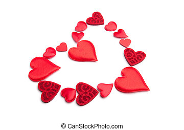 Heart red on white background