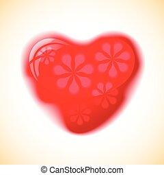 Heart red shape.
