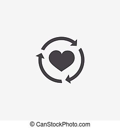 heart reload icon