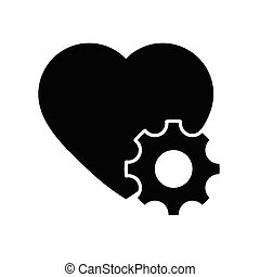 Heart repair icon. Heart surgery icon vector