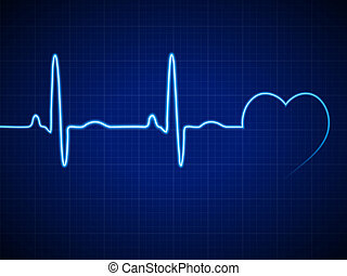 heart rhythm ekg - Vector Illustration heart rhythm ekg