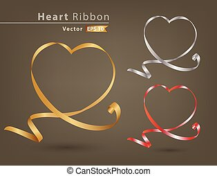 heart ribbon collection