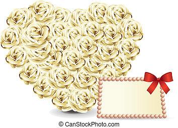 Heart roses card