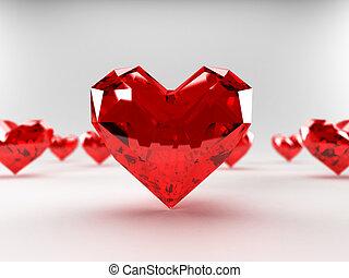 Heart rubies